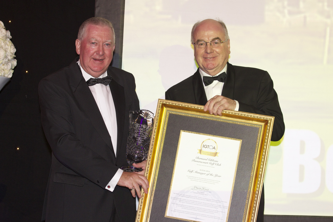"Bernard Gibbons Scoops  ""Golf Manager of the Year Award"""